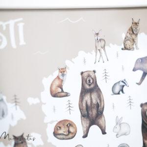 Eesti kaardiga poster