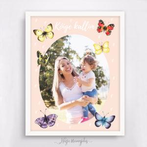 Emadepäeva poster, seina dekoratisoon, seinapilt, kingiidee