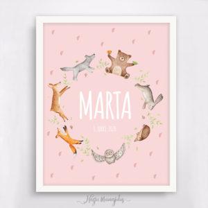 Loomad ringis poster lapse nimega