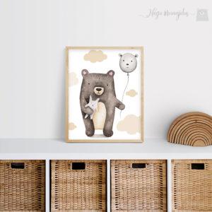 Õhupalliga karu poster