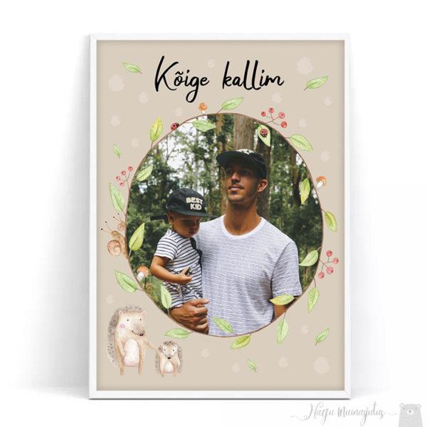 Isadepäeva poster siilidega, siilipere