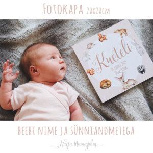 Loomadega fotokapa beebi sünniandmetega