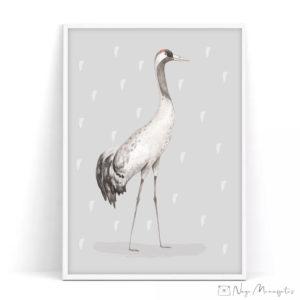 Sookurg poster lastele, lastetoa dekoratsioon, Eesti linnud