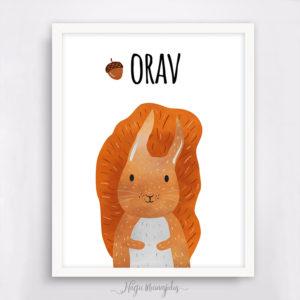 Orav poster lastetuppa