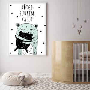 Kõige suurem kalli poster lastetuppa