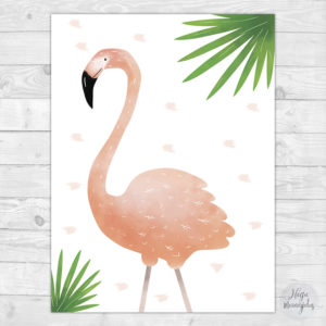 Troopika flamingo poster