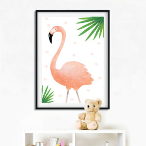 Troopika flamingo poster