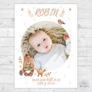 Armas poster, seinapilt lapse sünniandmetega.
