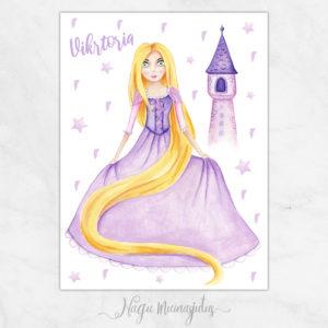 Rapunzel poster lastetuppa, seinapilt kaunistamaks lastetuba