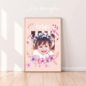 Ükssarvikuga poster, personaalne, lastetuppa, lapse nimega seinapilt
