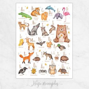 Loomadega Eesti tähestiku poster