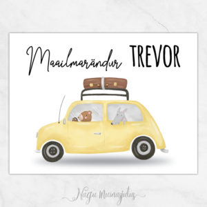 Maailmarändur nimega, autoga poster