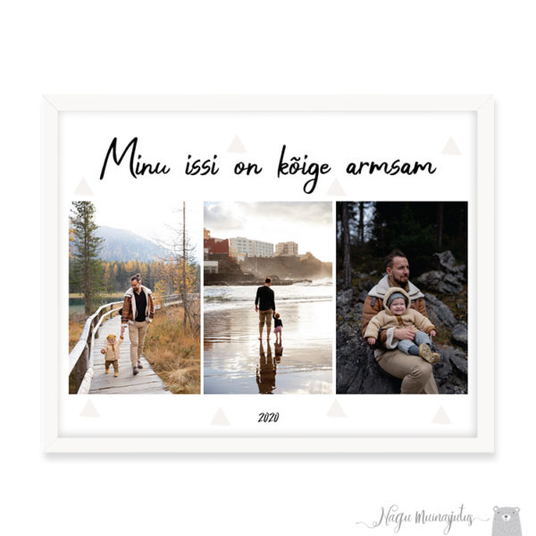Isadepäeva poster minimalistlik