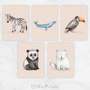 Maailma loomadega poster