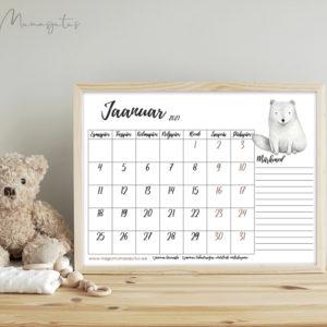 Minmalistlik kalender 2021
