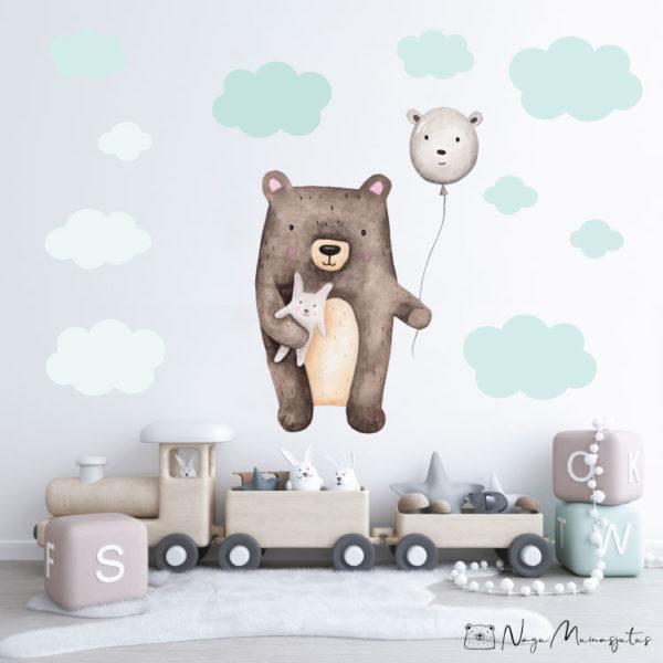 Õhupalliga karu seinakleeps